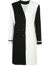 Thom Browne Long Pleated Cardi Coat Black