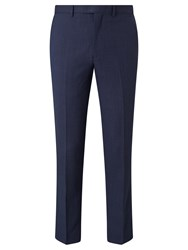 John Lewis Super 100S Wool Birdseye Tailored Suit Trousers Airforce