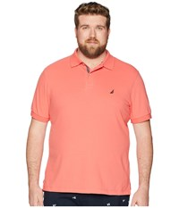 Nautica Big And Tall Big Tall Short Sleeve Solid Deck Shirt Dreamy Coral Clothing Multi