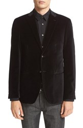 John Varvatos Men's Star Usa Trim Fit Velvet Dinner Jacket
