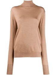 Ma'ry'ya Relaxed Fit Turtleneck Jumper Neutrals