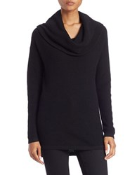 Lord And Taylor Petite Drop Shoulder Cowl Neck Sweater Black