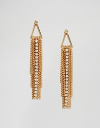 Coast Tassel Statement Earrings Gold