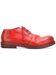 Marsell Gradient Lace Up Shoes Red