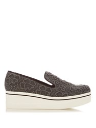 Stella Mccartney Binx Embroidered Flatform Loafers