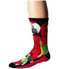 Neff Parrot Socks Red Men's Crew Cut Socks Shoes