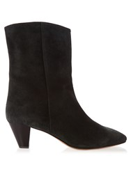 Isabel Marant Dyna Suede Ankle Boots Black