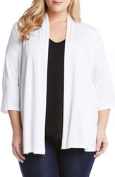 Plus Size Women's Karen Kane 'Molly' Open Jersey Cardigan