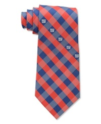 Eagles Wings New York Giants Checked Tie Team Color