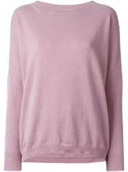 Liska Boatneck Sweater Pink And Purple