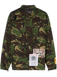 Martine Rose Military Camouflage Print Jacket Green
