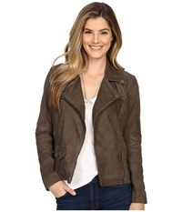 Lucky Brand Grey Suede Jacket Deep Taupe Women's Coat