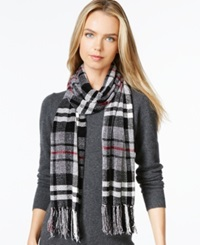 Charter Club Chenille Plaid Scarf Only At Macy's Red