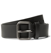 Alvaro 3.5Cm Black Leather Belt Black
