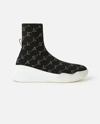 Stella Mccartney Black Loop Monogram Sneakers
