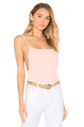 By The Way. Raelyn Backless Bodysuit Blush