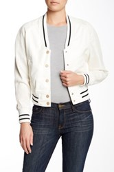 Fillmore Vegan Leather League Baseball Jacket White