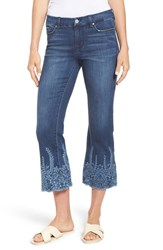 Liverpool Coco Embroidered Hem Crop Jeans Willow Wash