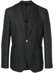 Hugo Boss Single Breasted Blazer Green