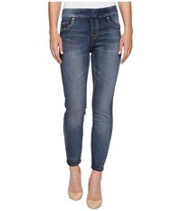 Tribal Pull On Knit Denim 28 Ankle Jegging In Medium Wash Medium Wash Women's Jeans Navy