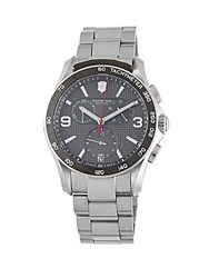 Victorinox Stainless Steel Chronograph Bracelet Watch Grey