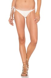 Blue Life Tribal Tie Side Bikini Bottom Cream