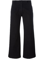 Current Elliott Flare Capri Pants Black