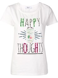 Blugirl 'Happy Thoughts' Print T Shirt White