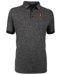 Antigua Tampa Bay Buccaneers Talent Polo Heather Black