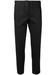 Tela Slim Cropped Trousers Black