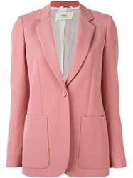 Ports 1961 Mohair Jacket Pink And Purple