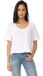 Three Dots Boxy Tee White