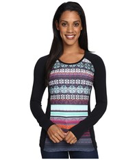 Hot Chillys Mtf Sublimated Print Scoop Neck Top Nordic Black Women's T Shirt