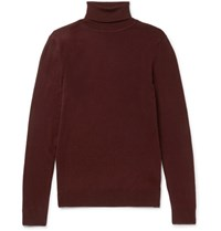 Nn.07 Nn07 Richard Merino Wool Rollneck Weater Burgundy