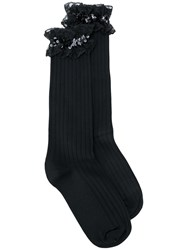 Alyx Ruffle Sequin Socks Black