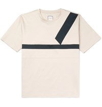 Wooyoungmi Panelled Cotton Jersey T Shirt Cream
