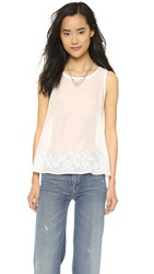 Madewell Bow Back Flutter Tank White Wash