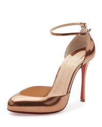 Christian Louboutin Dollyla Patent 100Mm Red Sole Pump Cappuccino