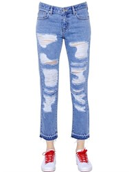 Steve J And Yoni P Destroyed Cotton Denim Jeans