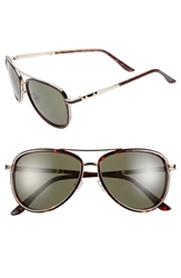 Bcbgmaxazria 54Mm Aviator Sunglasses Tortoise
