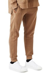 Topman Men's Aaa Collection Paneled Slim Fit Jogger Pants Light Brown