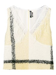 Calvin Klein 205W39nyc Lace Detailed Top Yellow