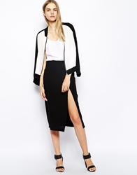 Won Hundred Pencil Skirt With Split Black