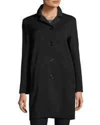 Cinzia Rocca Wool Bend Four Button Coat Black