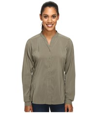 Exofficio Safiri Long Sleeve Shirt Bay Leaf Women's Long Sleeve Button Up Brown