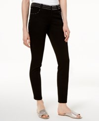 Inc International Concepts I.N.C. Petite Embellished Skinny Ankle Jeans Created For Macy's Black