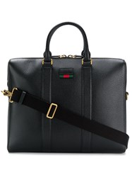 Gucci Rounded Handle Briefcase Black