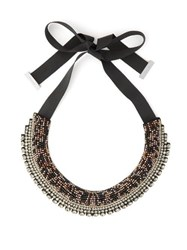 Etro Crystal And Bead Satin Necklace Crystal