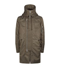 Allsaints Mason Parka Coat Male Green