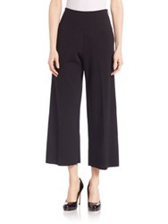 Lk Bennett Ondria Wide Leg Cropped Trousers Black